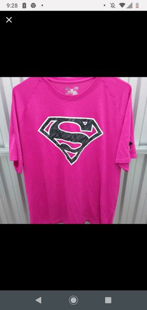 Under Armour pink Superman shirt large for Sale in Brandon, FL
