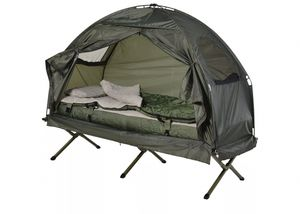 Outdoor 1 Person Folding Tent Portable Travel Camping Hiking Cot w/ Mattress Camper Sleeping Bag for Sale in Toledo, OH