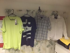 (All men ) Light green Adidas size XL, Navy blue G Raw size L, sky blue Calvin Klein size S, white Drill size M. 10$ each for Sale in San Francisco, CA