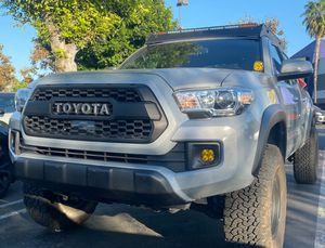 Toyota Tacoma TRD PRO Matte Black Grill Front Bumper Hood Grille For 2018-2020 Tacoma With 4 Amber Running Lights WITH SENSOR COVER for Sale in Fullerton, CA