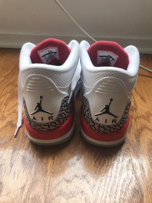 Kids Jordan retro threes cement size 7 for Sale in Gaithersburg, MD