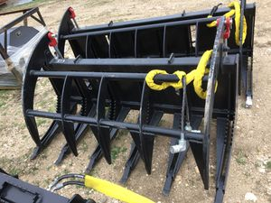 "66"" Skid Steer Root Rake or Root Grapple made in USA $995 ea . We also have many other skid steer attachments available in stock . We location in For for Sale in Fort Worth, TX"