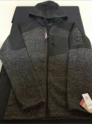New Men's Reebok Outerwear Full-Zip Jacket Hoodie Style OMRB049H Size Large for Sale in Dallas, TX
