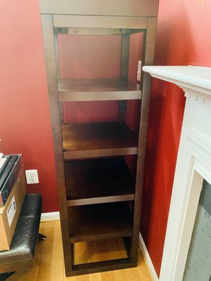 Crate and Barrel 5 Shelves Solid Mahogany Wood Bookcase for Sale in Lorton, VA