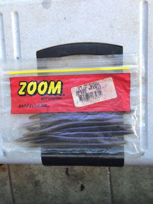 Zoom trick worm green weenie bait lure fishing for Sale in Greensboro, NC