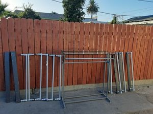 GLASS SHELVES AND CLOTHING RACKS for Sale in Los Angeles, CA