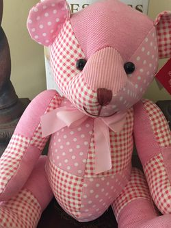 New, Russ Pink Quilted Teddy Bears-great for Easter! for Sale in Bakersfield,  CA