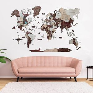 Wooden Map Of The World (3D) for Sale in Los Angeles, CA