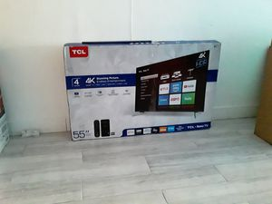 55 Roku smart 4k Tcl Led TV for Sale in Downey, CA