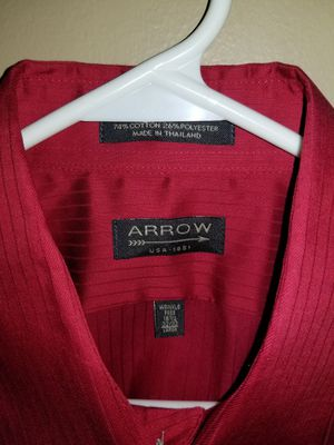 Arrow dress shirt large for Sale in Millville, NJ