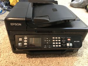 REDUCED PRICE: Epson WF-2540 Color Inkjet All-in-One Printer for Sale in Rochester, MN