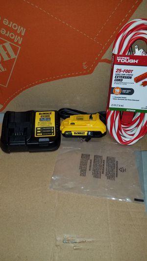 NEW Dewalt 20v MAX battery and charger for Sale in Ashburn, VA