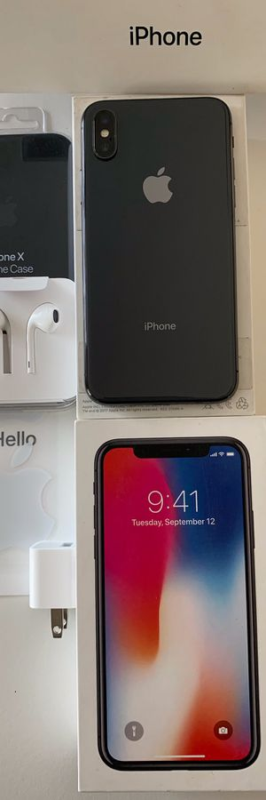 🔥 IPHONE X 256GB UNLOCKED WORKS WITH ANY CELLPHONE COMPANY WE CAN MEET AT ANY CELLPHONE STORE VERIFY EVERYTHING WORKS💯%👍🏼 for Sale in Escondido, CA
