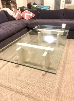 Large glass coffee table w marble for Sale in Indio, CA