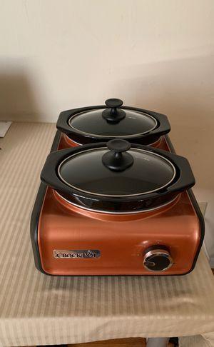 Crock-Pot Double Oval 1-quart Metallic Copper for Sale in Hasbrouck Heights, NJ