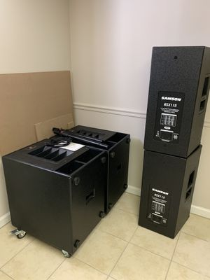 Speakers powered subwoofers and passive Samson 15 inches for Sale in Clifton, NJ