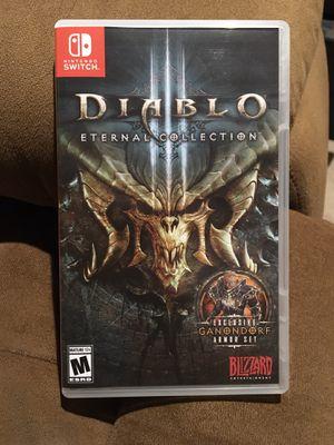 Diablo 3 Nintendo Switch for Sale in Andover, MA
