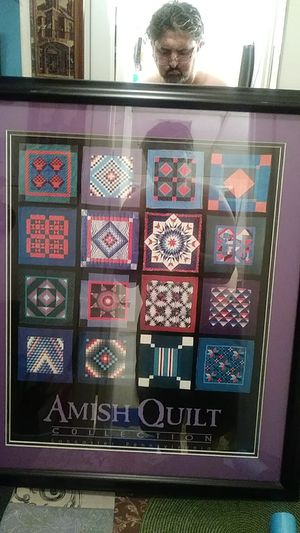 Amish quilt collection in frame..NEW.. for Sale in Cranston, RI