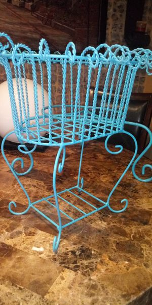 Turquoise plant stands for Sale in Missouri City, TX