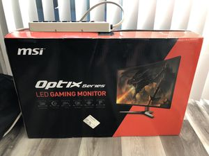 MSI Optix G27C Gaming Monitor for Sale in San Diego, CA