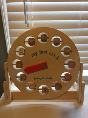 Toy clock - Pottery Barn Kids for Sale in Tacoma, WA