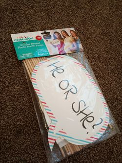 Gender reveal photo booth props for Sale in Lake Elsinore,  CA