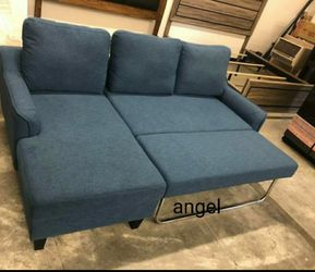 $39 Down Payment 💳Jarreau Blue Sofa Chaise Sleeper 115 for Sale in MD,  US