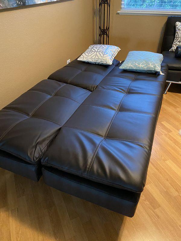 Leather Futon (Sofa Bed)