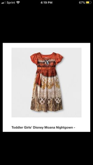 Toddler girls Moana nightgown size 2t and 4T for Sale in Fontana, CA