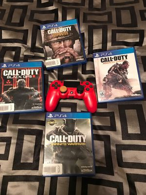 PS4 controller and games for Sale in Pittsburgh, PA