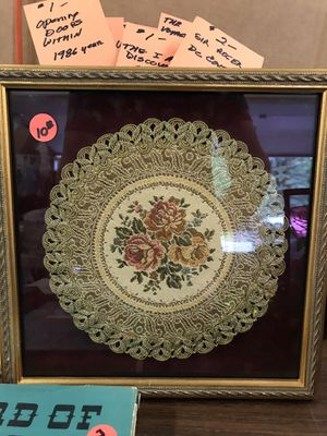 This is fancy Doily was from Austria. My Grandma framed it. for Sale in Anchorage, AK