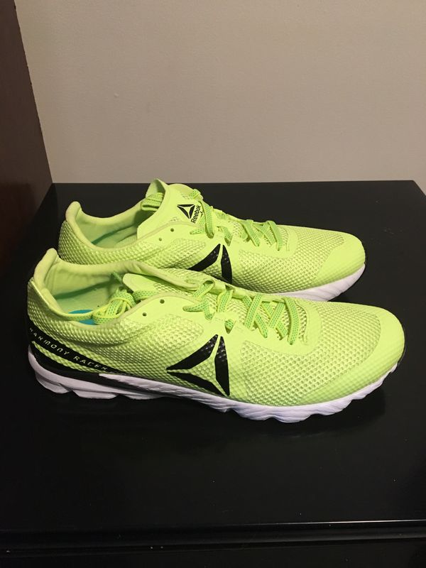 Men's Brand New Reebok Harmony Racer Size 9.5 Neon / White Shoes