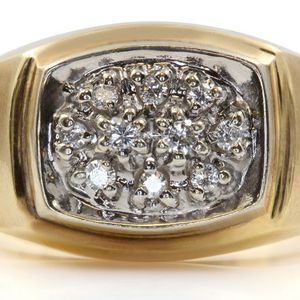 U622 MENS DIAMOND WEDDING RING BAND 14K GOLD 9.00GRAMS SZ10 for Sale in San Diego, CA