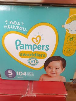Pampers swaddlers Size 5 $34 for Sale in Los Angeles,  CA