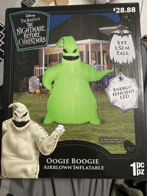 The nightmare before Christmas Oogie boogie 5ft inflatable brand new for Sale in Alhambra, CA