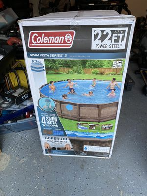 Brand New Coleman 22ft steel framed pool for Sale in Lorton, VA