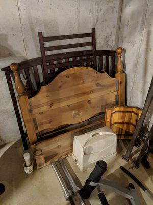 Solid wood headboard for Sale in Plato, MO