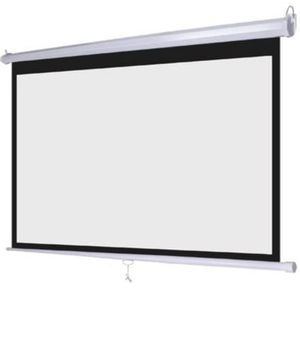 "Never used Leadzm 92"" 16:9 Projector Screen Matte White + Remote for Sale in Altamonte Springs, FL"