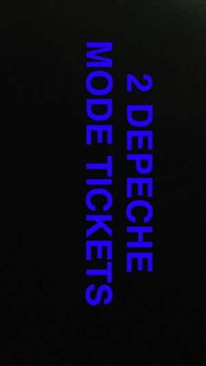 TWO DEPECHE MODE TICKETS for Sale in Spanish Fork, UT
