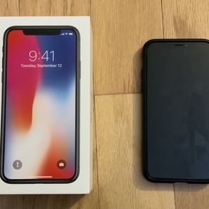 iPhone X 64GB Space Gray Unlocked for Sale in Pittsburgh, PA