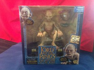 Lord Of The Rings Vintage Electronic Talking Gollum, Smeagol Lg. Figure Return Of The King Toy Biz New Boxed for Sale in Tarpon Springs, FL