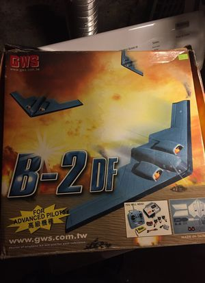 GWS B-2 Glider drone bomber black wing war plane stealth hobby rc for Sale in Seattle, WA