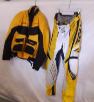 Motorcycle racing suit jacket 3x, pant size 38. 150.00 for Sale in Houston, TX