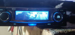 Panasonic car stereo cd player aux plug has 7 graphic movies for Sale in Phoenix, AZ