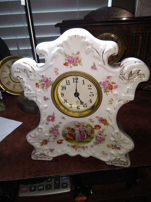 Antique porcelain clock Germany for Sale in Meridian, ID