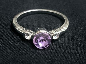 Sterling Silver round purple CZ Ring for Sale in Las Vegas, NV