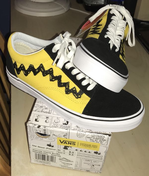 8be843e939f Peanuts Charlie Brown Old Skool Vans Limited Edition Size 8 Men s ...