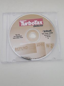 Turbo Tax Deluxe Cd (2000) for Sale in Chicago,  IL