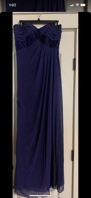 Long Dark Purple Formal Gown/Dress, Strapless - Size 8 *Like NEW* for Sale in Eagle, ID