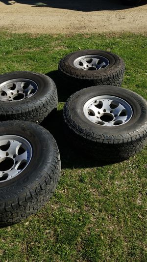LT 285/75R16 two tire sets with rims for Sale in Mackinaw, IL